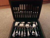 Full set of george greaves cutlery in wooden box