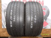 AB301. 2X 235/50/18 97W ZR 2X5-6MM MICHELIN PILOT HX MXM - USED TYRES