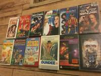 Collection of 10 old VHS tapes