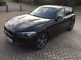 BMW 1 Series 2 litre 118d Sport, Sports Hatch, 5dr in black