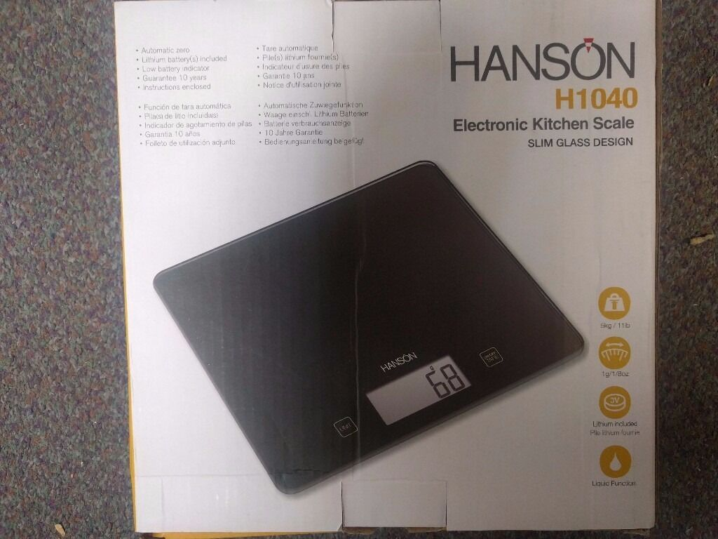 Hanson H1040 Sensitive Kitchen Scale Black 5Kg