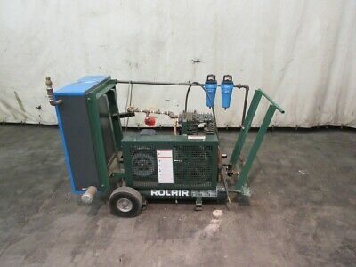 Rolair Air Compressor 5 Hp 230 V 18.8 Cfm Spx Hankison Desiccant Air Dryer