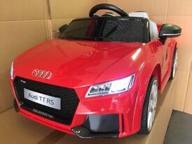 AUDI TTRS KIDS 12v RIDE IN CAR with REMOTE CONTROL