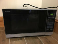 MICROWAVE AND OVEN SHARP , HEAVY DUTY BIG MICROWAVE STILL UNDER WARRENTY £60