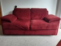 Large red sofa for free.