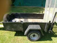 galvanised ex plant trailer