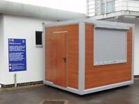 Catering unit, food kiosk, retail space,mobile bar, flower shop,booking kiosk,security hut