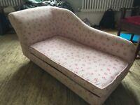 Girls floral chaise chair