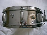 "Slingerland Model 130 Gene Krupa Sound King alloy snare drum 14 x 5"" - Niles, USA - '60s - 8 lugs"