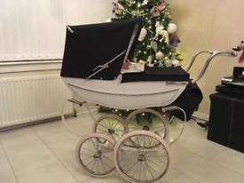 Vintage Silver Cross Doll Pram