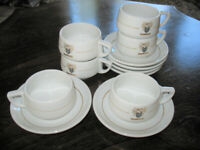 6 Rombouts coffee cups and saucers, Royal Mosa Holland