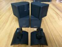 Bose jewel cubes with connecters and wall brackets home cinema speakers
