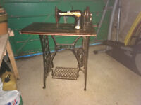 Vintage Singer Sewing Machine with treadle