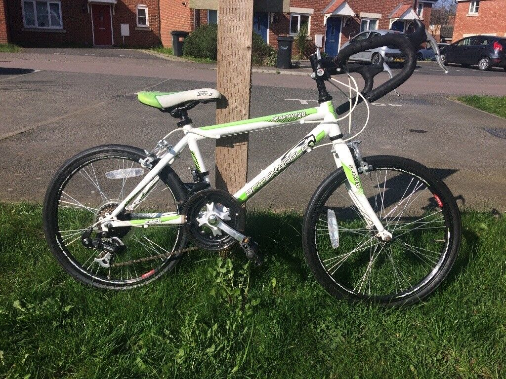 British Eagle Kids Sportive 20 Road Bike - Green/White, 7-11 Years ...