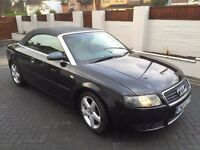AUDI A4 CABRIOLET 2.5 TDI SPORT **12 MONTH MOT** NEW TIMING BELT, FSH 9 STAMPS , EX CONDITION £2895