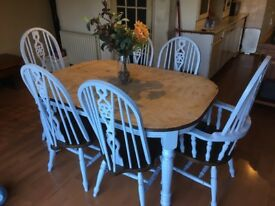Pretty vintage table and chairs ,