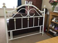 King size white and gold coloured Headboard for sale