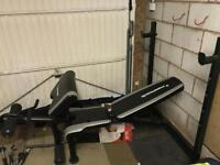 Maximuscle weights bench. Weights, barbell, dumbbells. Curl bars