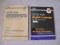 CGP NEW GCSE AQA English Language Revision Guide AND Practice Exam Papers