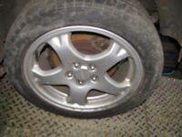 """Subaru Impreza Turbo 2000 16"""" Alloy Wheels & Tyres"""
