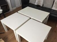 Ikea Lack coffee and side table white
