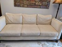 Cream 3 seater sofa in mint condition