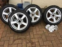 """Fox 15"""" wheels with tyres"""