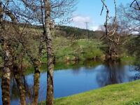 Luxury 1 bedroom holiday lodge with fantastic waterfront view for sale in the Scottish Borders