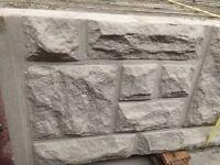 Rock face base panels, gravel boards