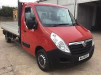 Vauxhall movano F3500 L3H1 2.3 cdti LWB, Alloy dropside truck, Great condition.