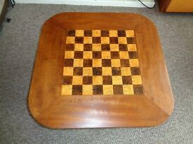 Vintage Solid Teak Chequer Coffee Table