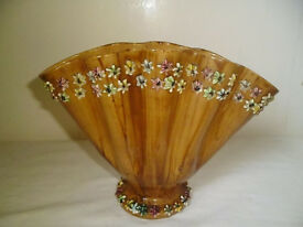 SHELL SHAPED VASE WITH STARFISH PATTERN,