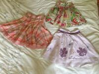 Bundle of Next summer skirts for age 7 years.