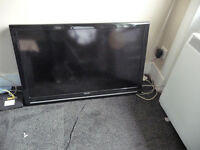 """sharp 40 """" tv and remote"""