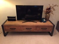 High quality TV stand, made of metal and wood (each piece is unique)