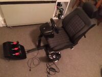 Logitech g25 racing wheel and games chair
