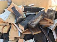 Reclaimed firewood .