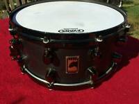 Mapex Black Panther (phat Bob) snare, with soft case. Ono