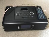 TEAC SR2DAB Desktop DAB/FM Radio with iPod dock Black