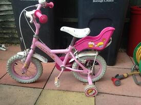 little girls bike age 2-5 really good condistion only had it 1 mouth little girl got a new one