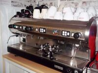 COMMERCIAL 3 GROUP COFFEE MACHINE WITH GRINDER