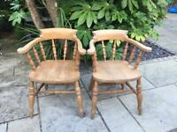 Solid pine Smoker Bow chairs