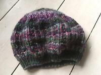 Beret style knitted hat
