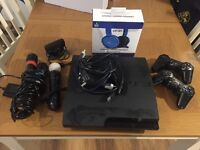Play Station 3 slim with lots of games