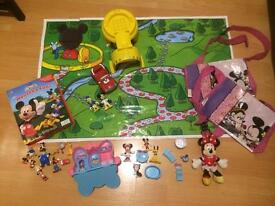 Girls Disney Minnie Mouse Bundle Toys Book Building Blocks Bag Morden Near Tube