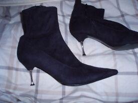 Graceland metal spike heeled soft velvet boot size 7 (other items)