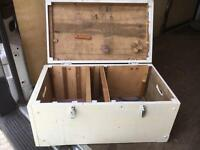 Vintage joiners tool box painted white