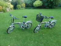 2 IZIP SANTA CRUZ FOLDING ELECTRIC BIKES