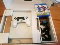 PS4 WHITE SLIMLINE - BOXED - CONTROLLER - GAMES!