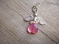 Silver Pink stoned Fob